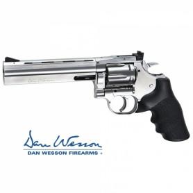 """Revolver Dan Wesson 715 6"""" Silver - 4,5 mm Co2 Bbs Acero -"""