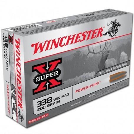 Munición metálica WINCHESTER Cal. 338 POWER POINT 200 gr -