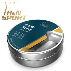 Balines H&N Match Heavy - 0,53g lata 500 unid. 4,49mm - Armeria