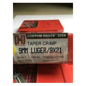 Dies HORNADY 9mm con TAPER CRIMP - Armeria EGARA