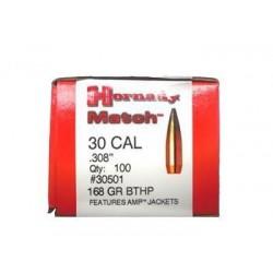 Proyectiles Hornady Cal. 30 - 168Gr - BTHP - Armeria EGARA