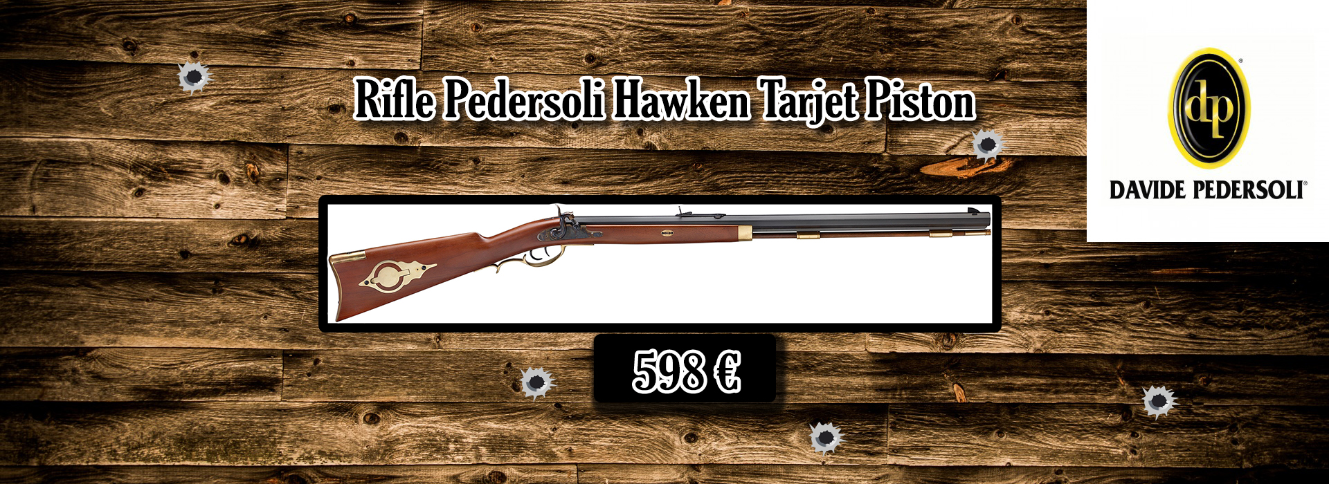 Rifle Pedersoli Hawken Tarjet Piston